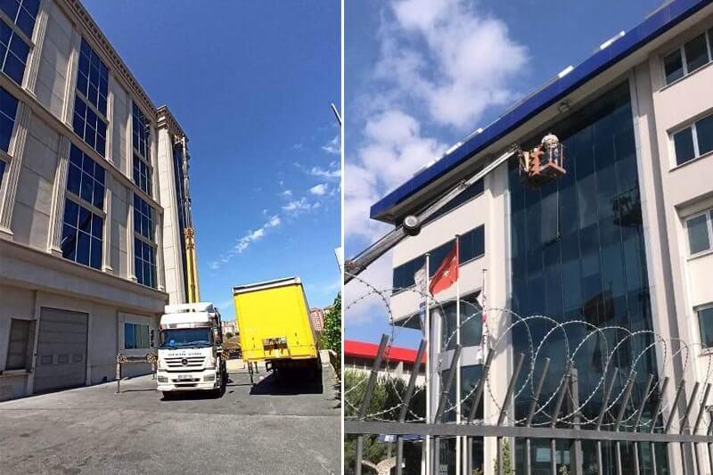 Dış cephe cam temizliği şirketi çalışmaları